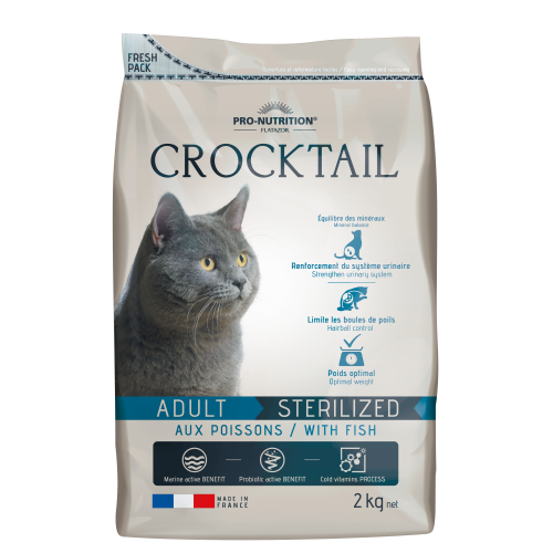 Crocktail Adult Sterilized aux poissons