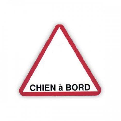 "Autocollant ""Chien à bord"" triangulaire"