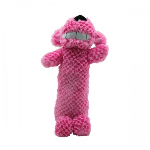Peluche sonore Loofa rose