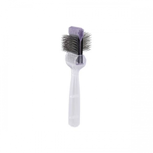 Brosse Activet dure - simple paillettes violettes