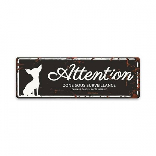 "Plaque originale ""attention au chien"""