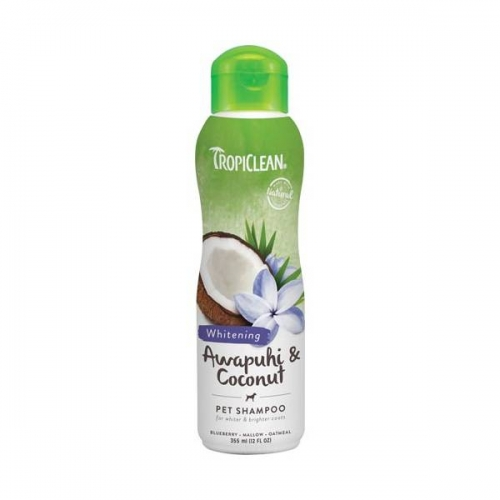Shampooing Pelage Blanc Tropiclean Amome Sauvage et Noix de Coco